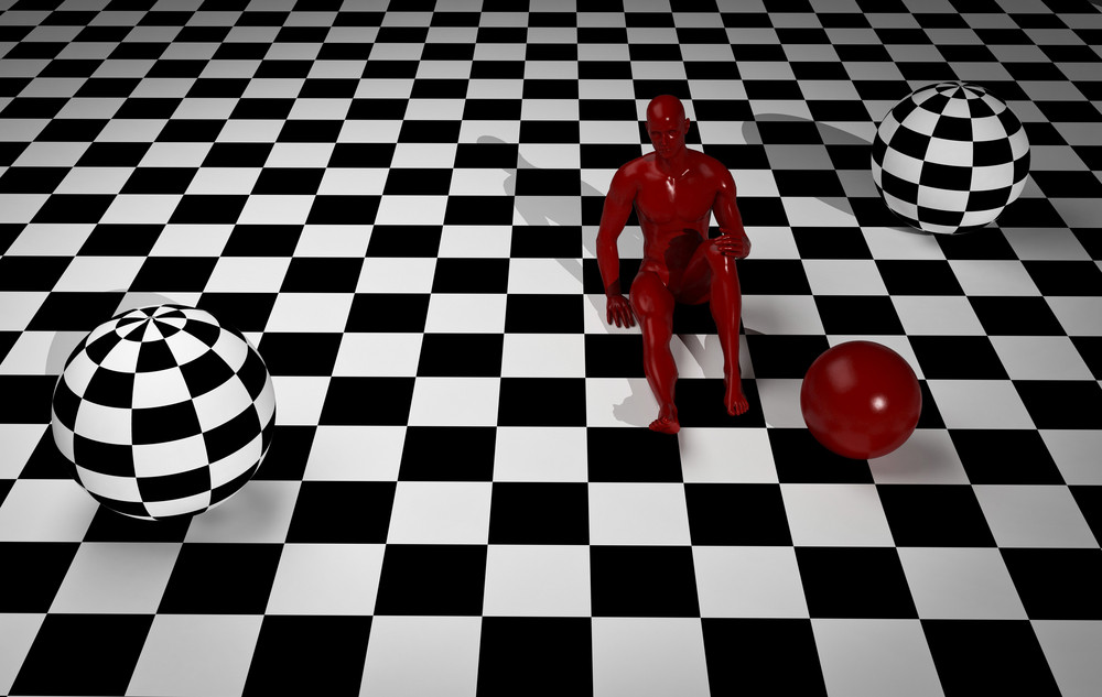 Checkered  Art Composition