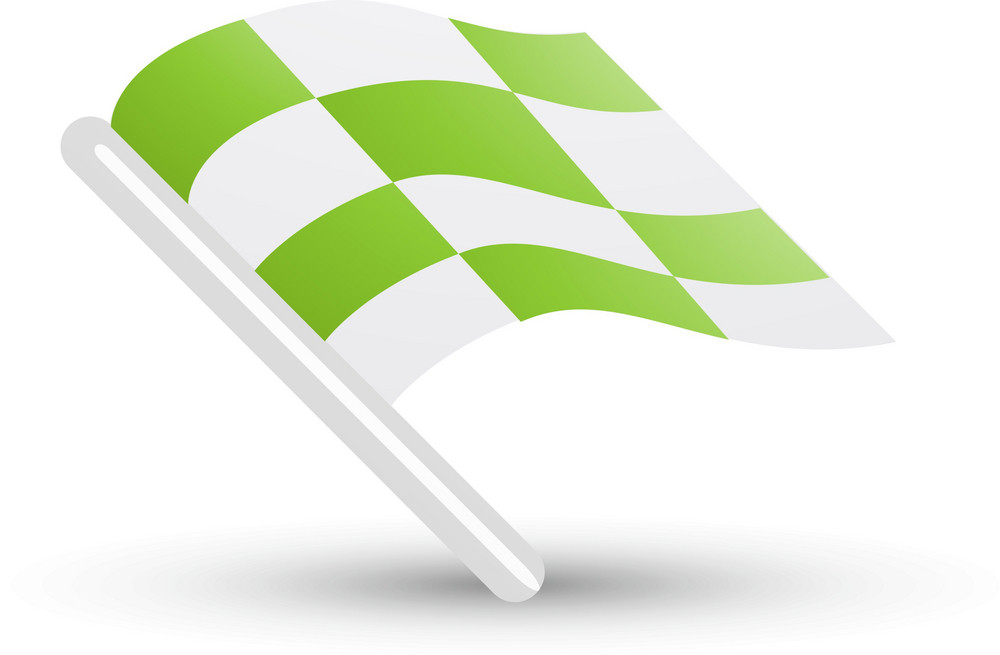 Checkered Flag Green Lite Sports Icon