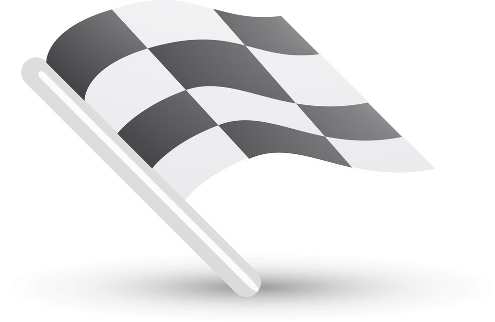 Checkered Race Flag Lite Sports Icon