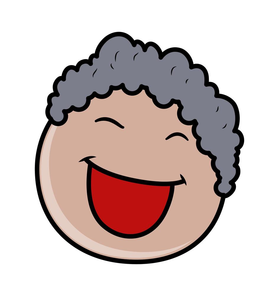 Cheerful Cartoon Boy