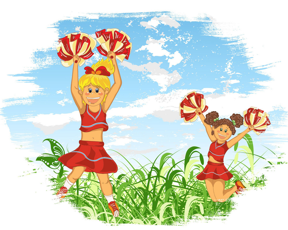Cheerleaders Vector Illustration