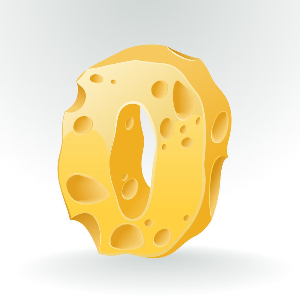Cheese Vector Abc. Figure 0.