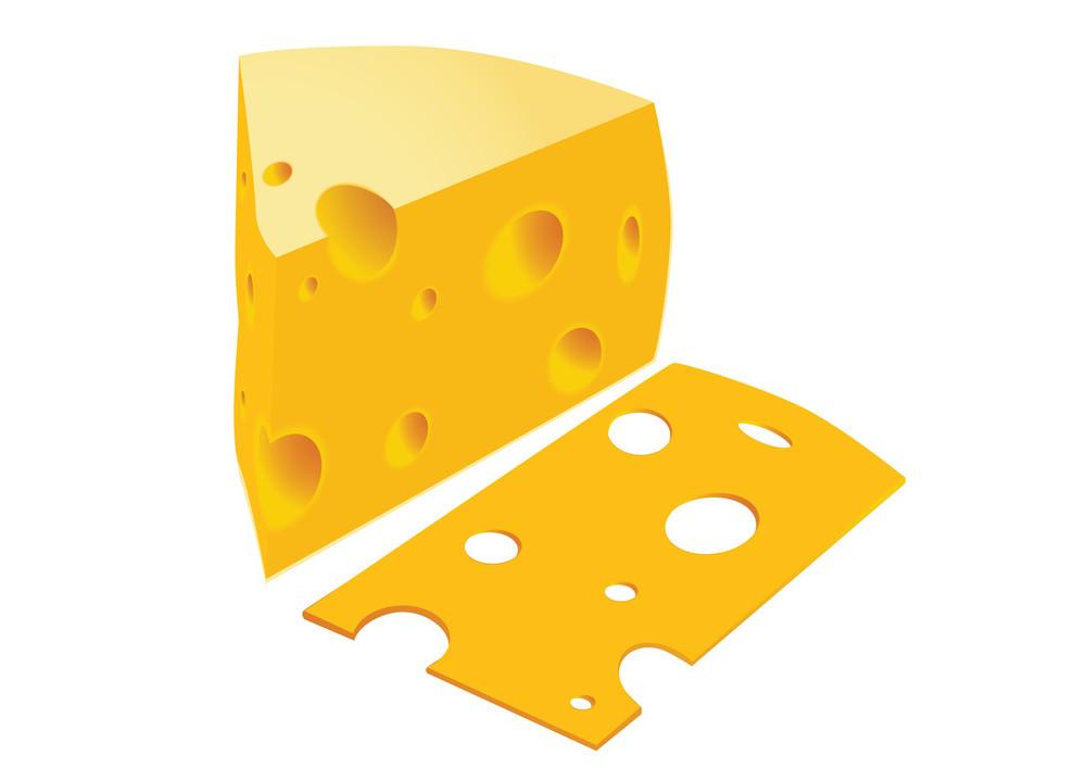Cheese. Vector Illustration