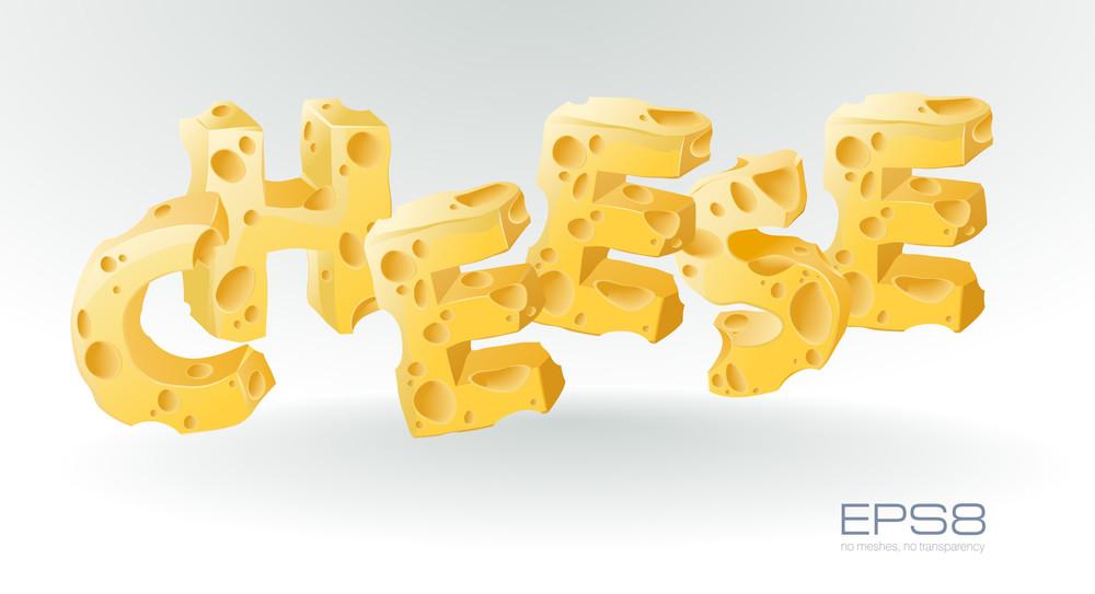 Cheese. Vector.