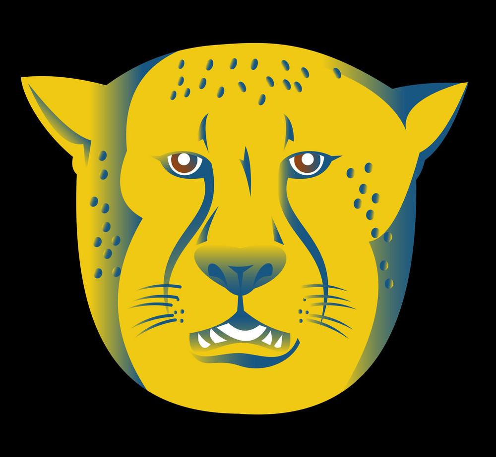 Cheetah Head Facing Front