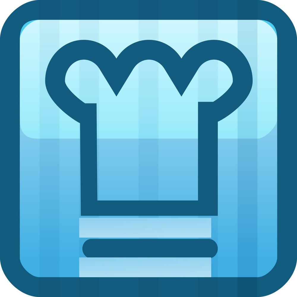 Chefs Hat Blue Tiny App Icon