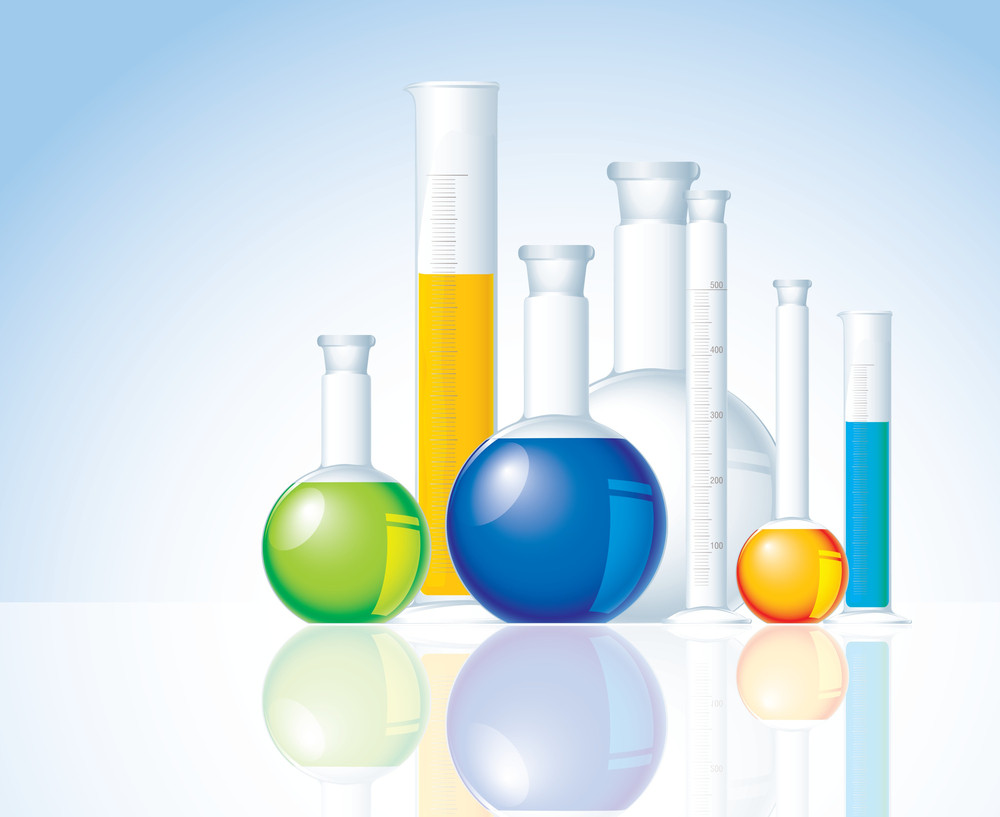 Chemical Glass. Vector.