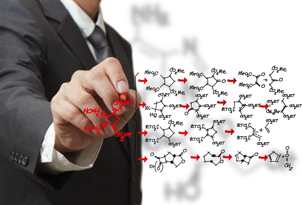 Chemist Draws A Molecular Structure