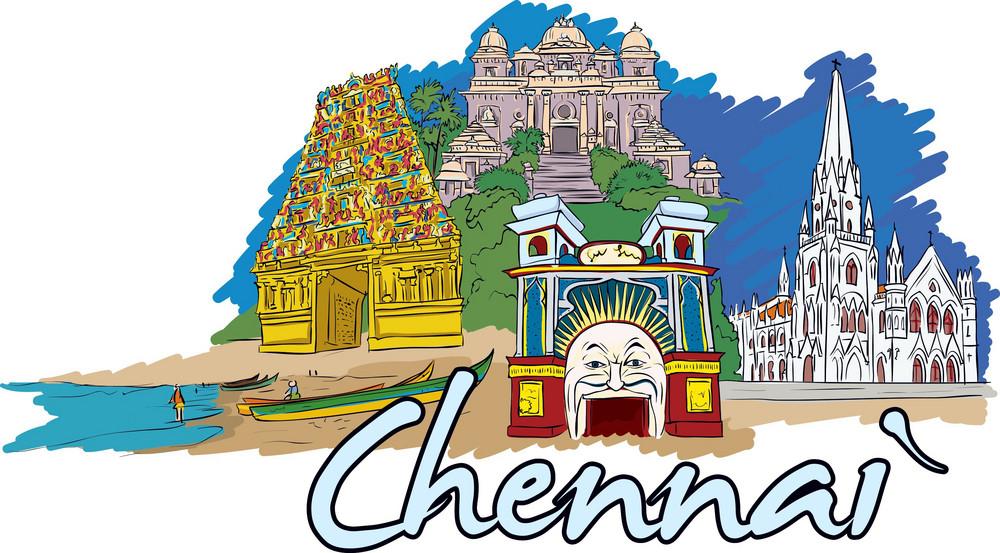 Chennai Vector Doodle