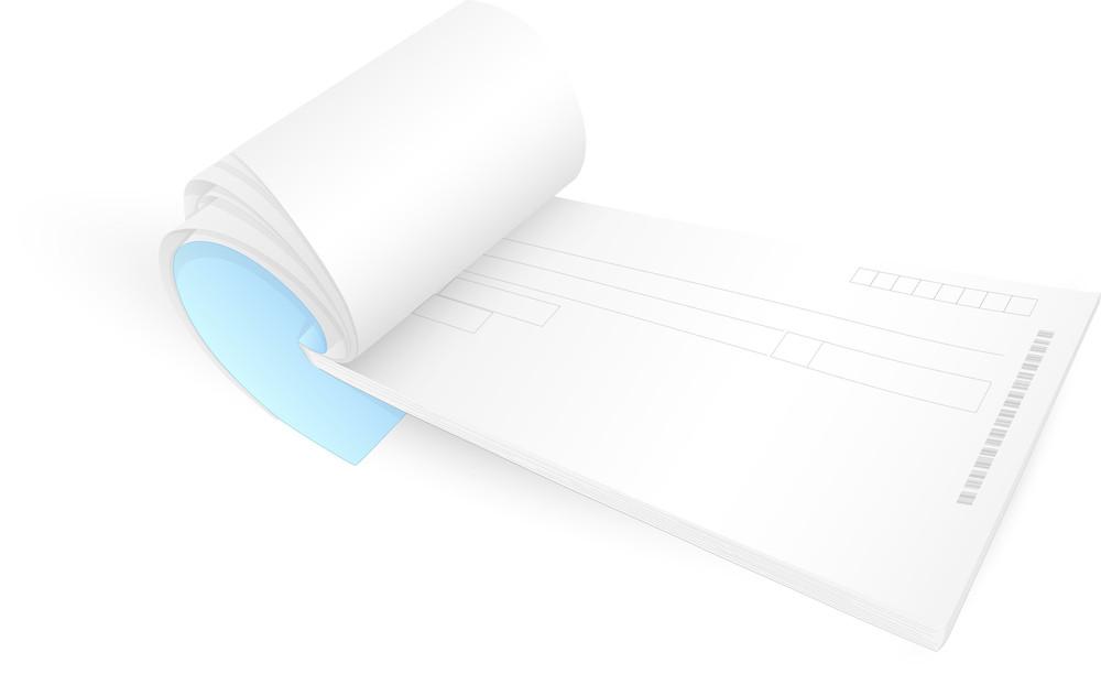 Cheque Book Vector Illustration