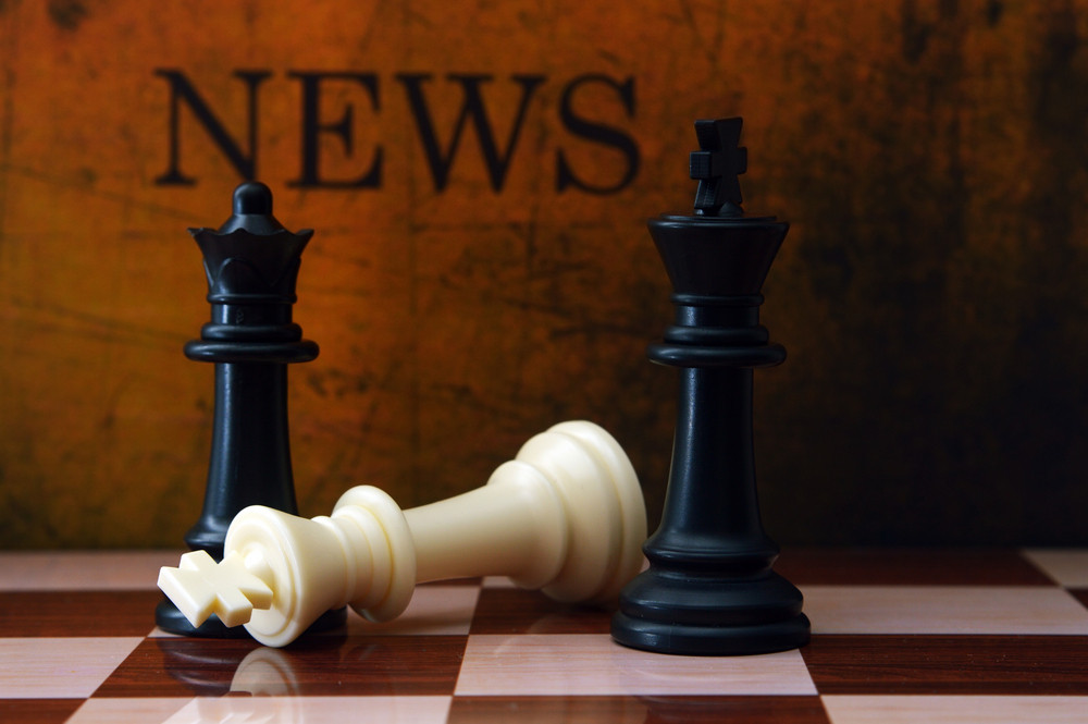 Chess And News Concept