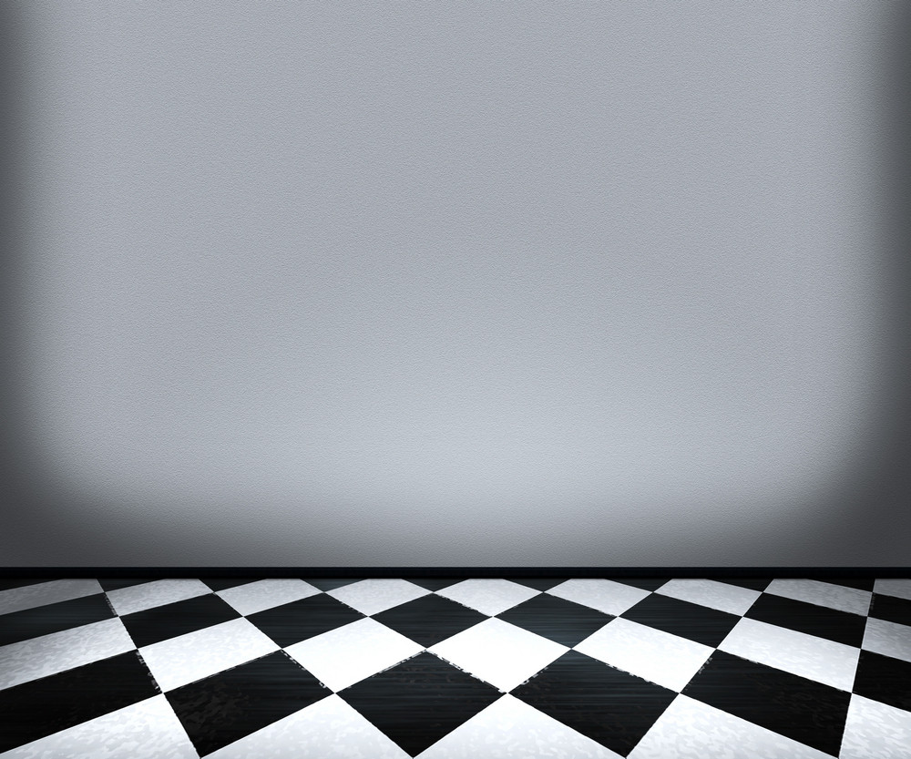 Chessboard Floor Tiles In Room Royalty-Free Stock Image - Storyblocks
