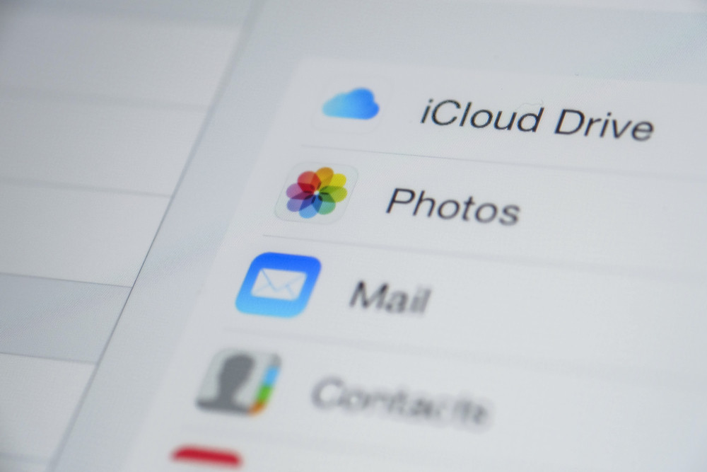 CHIANG MAI, THAILAND - OCTOBER 03, 2014: Apple icloud icon apps on Apple new iPad Air device screen.
