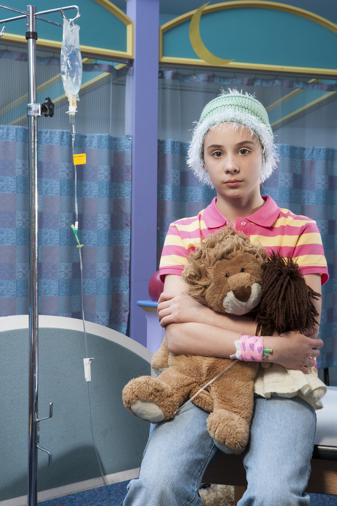 Child patient in hospital