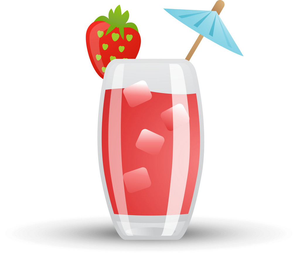 Chilled Strawberry Drink Icon
