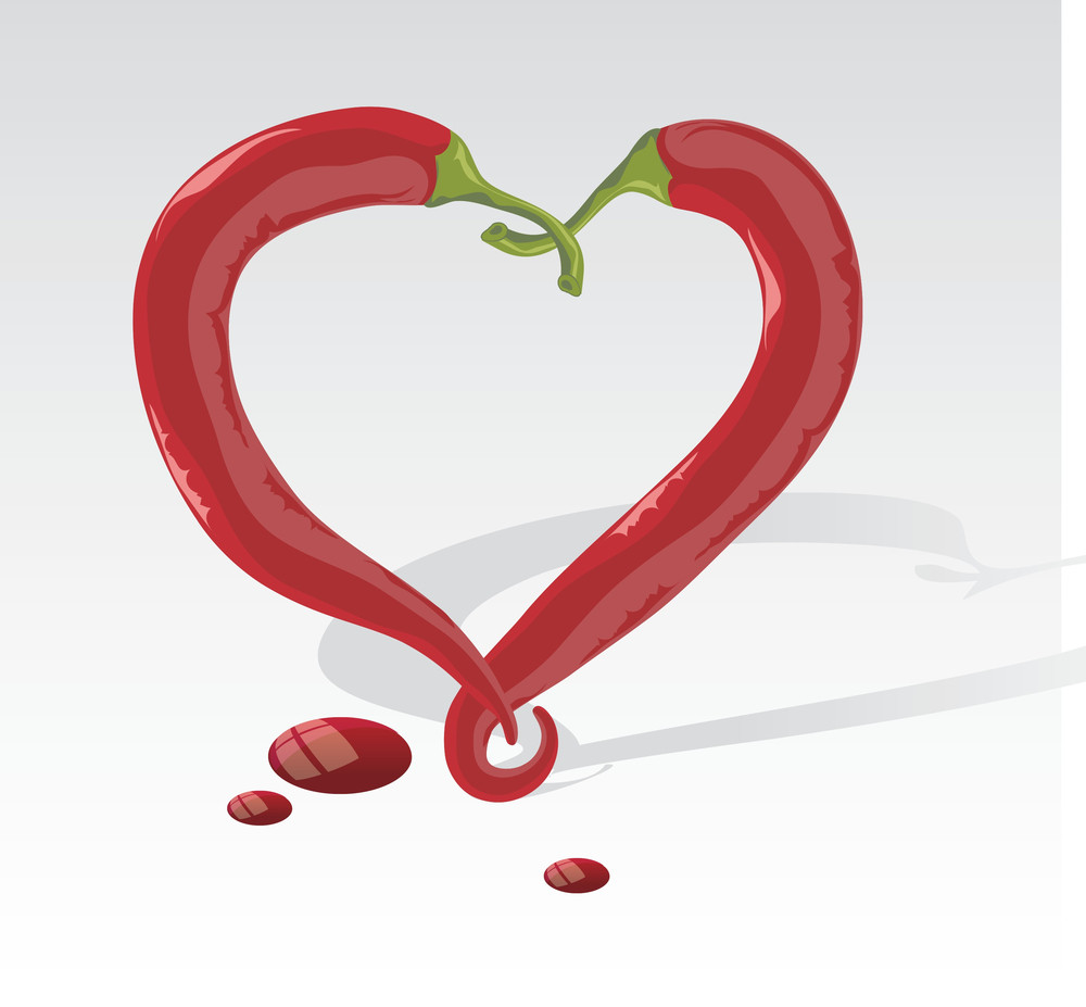Chilly Heart. Vector.
