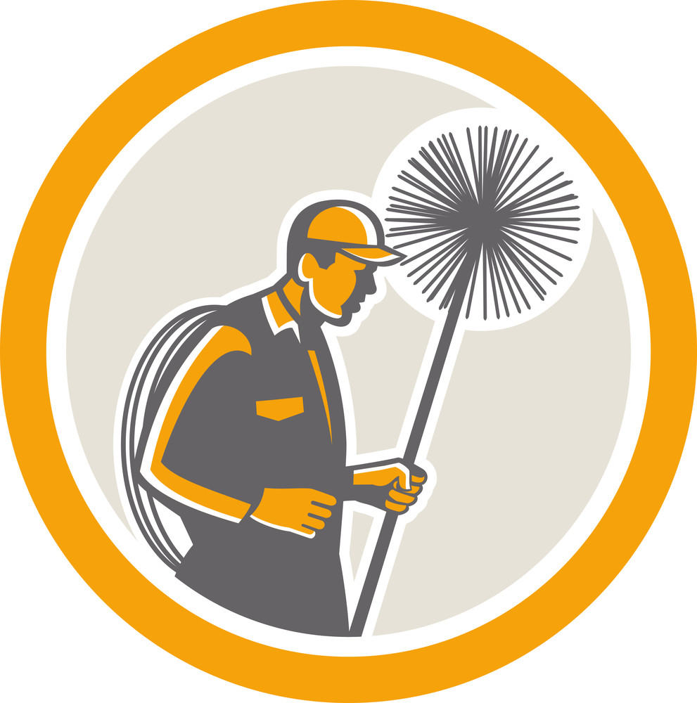 Chimney Sweep Worker Retro