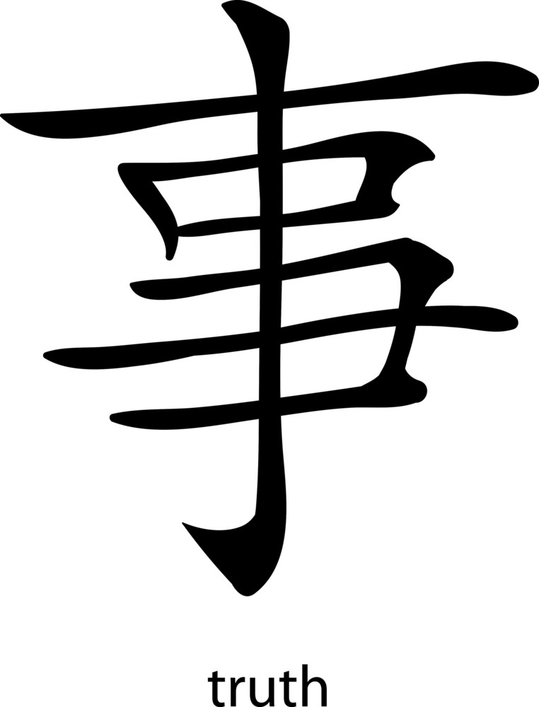 Chinese Glyphs Vector Element