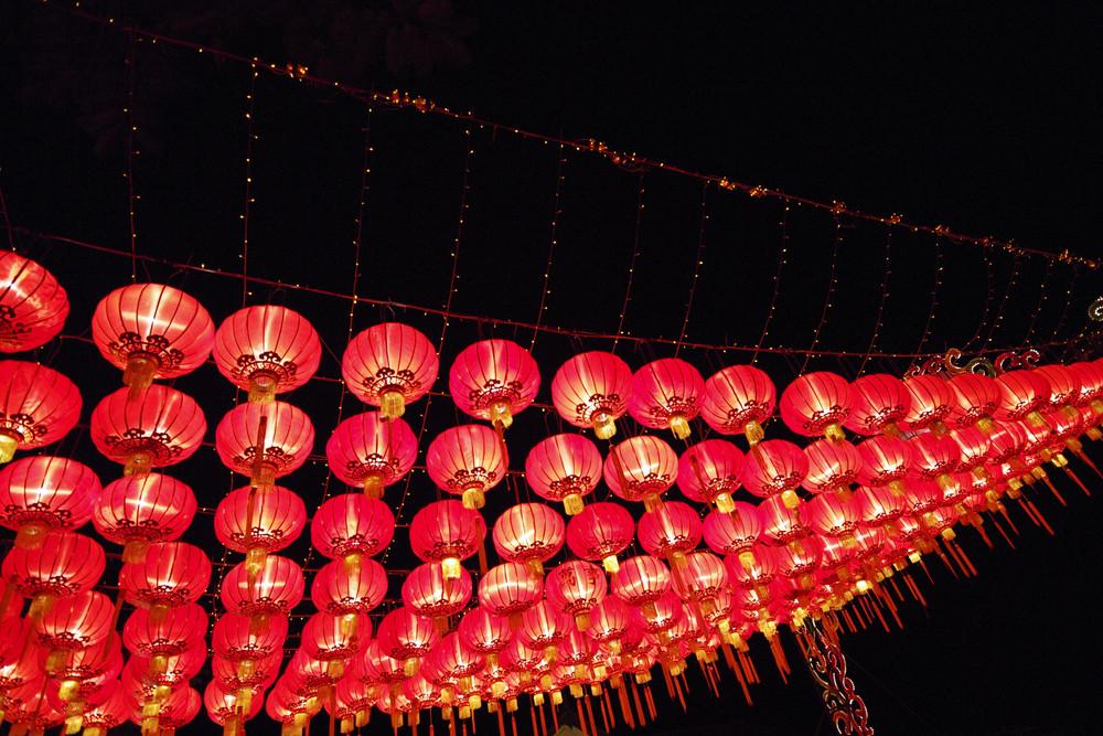 Chinese Lantern at night chinese new year