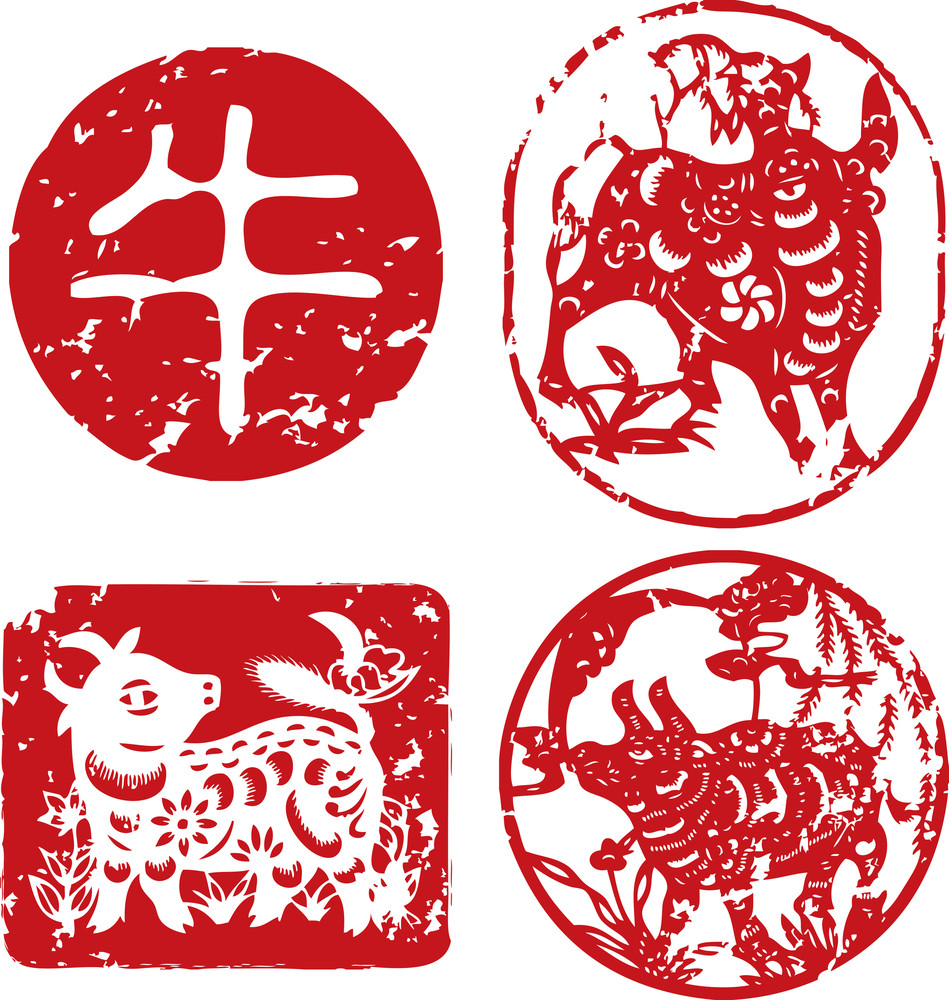 Chinese New Year Seals - Ox