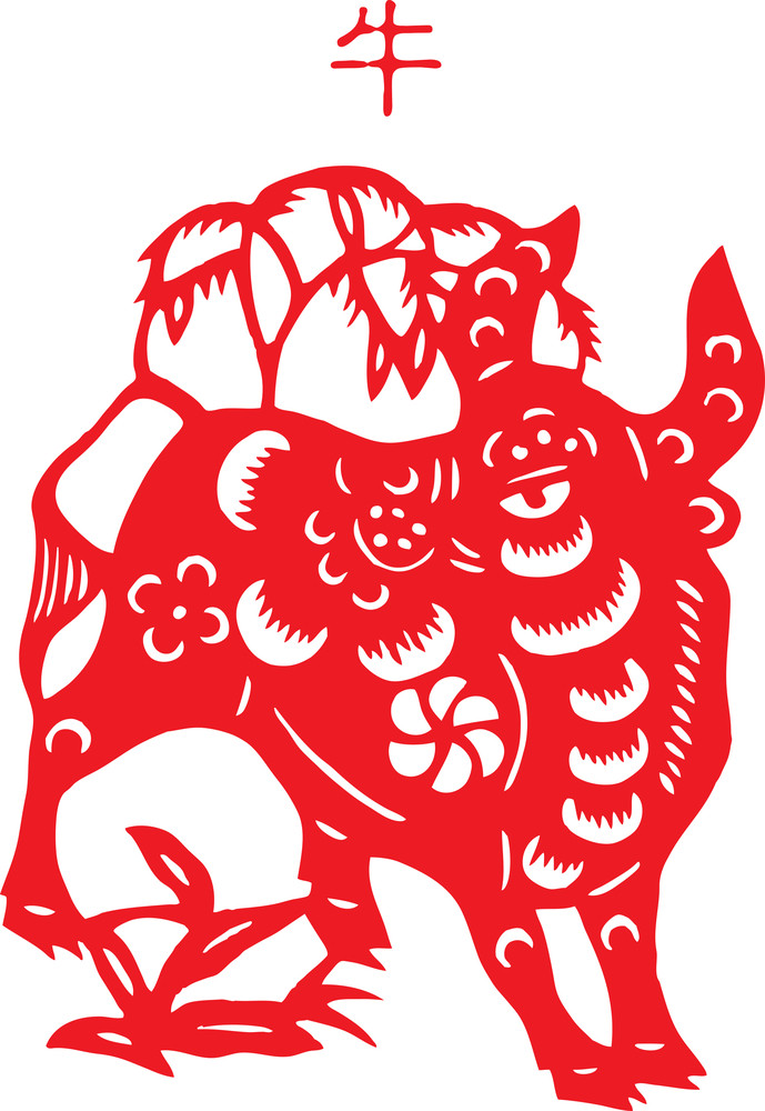 Chinese Paper Cutting - Ox