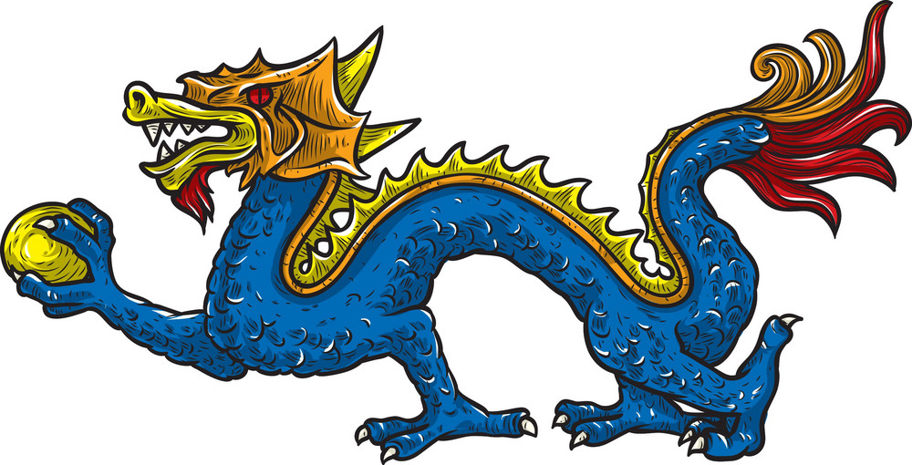 Chinese Vector Mythical Creature