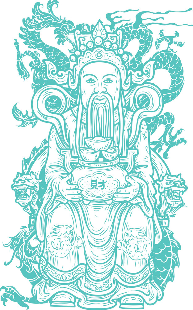 Chinese Vector T-shirt Design