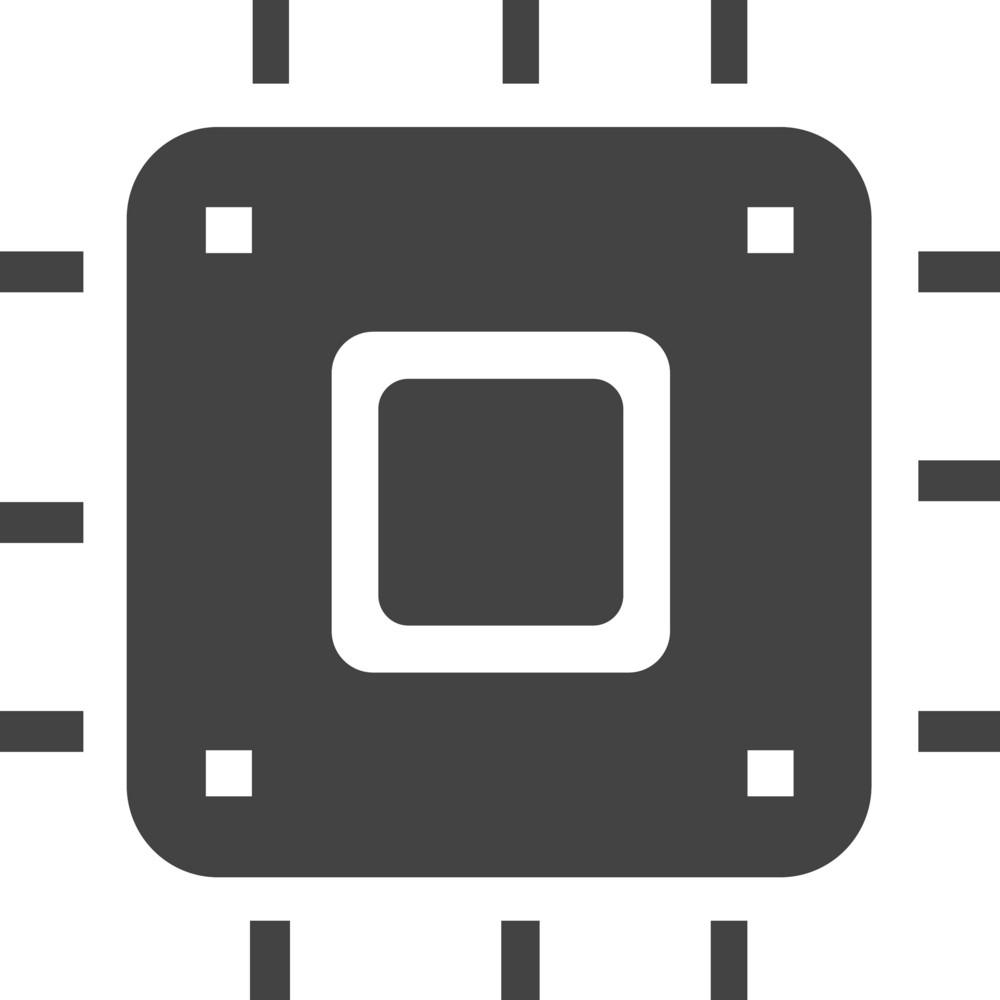 Chip 1 Glyph Icon