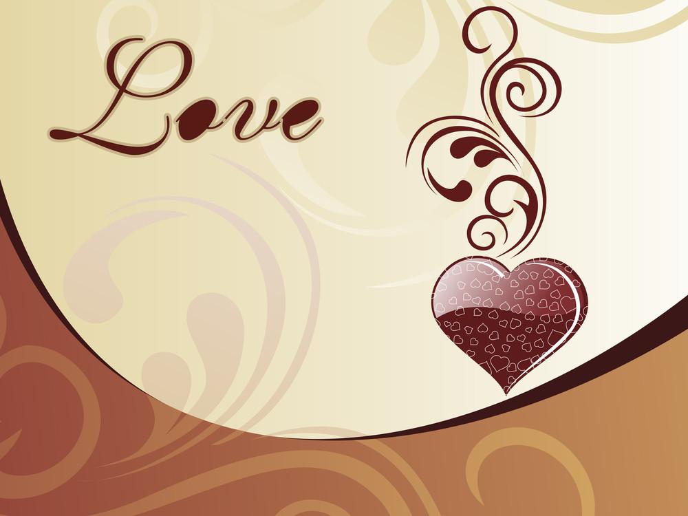 Choclate Color Heart-shape Card