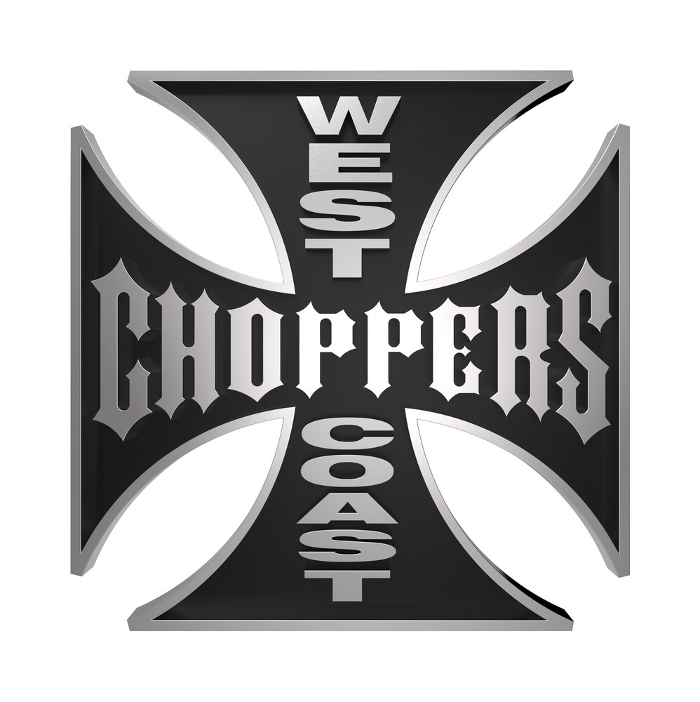 Choppers Cross Isolated On White.