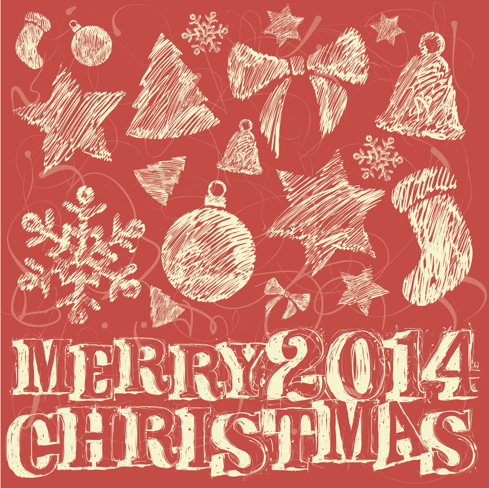 christmas and new year greeting card vector template