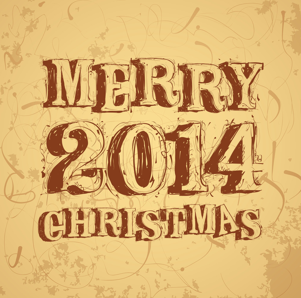 Christmas And New Year Greeting Card Vector Template Royalty Free