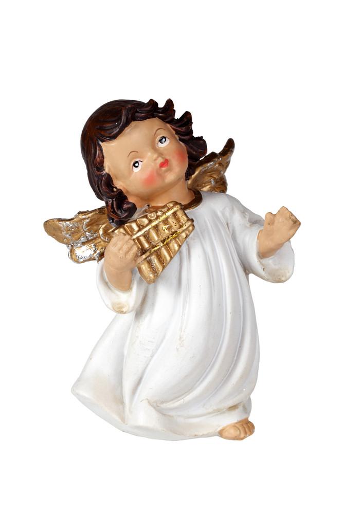 Christmas Angel Figurine As Musicians
