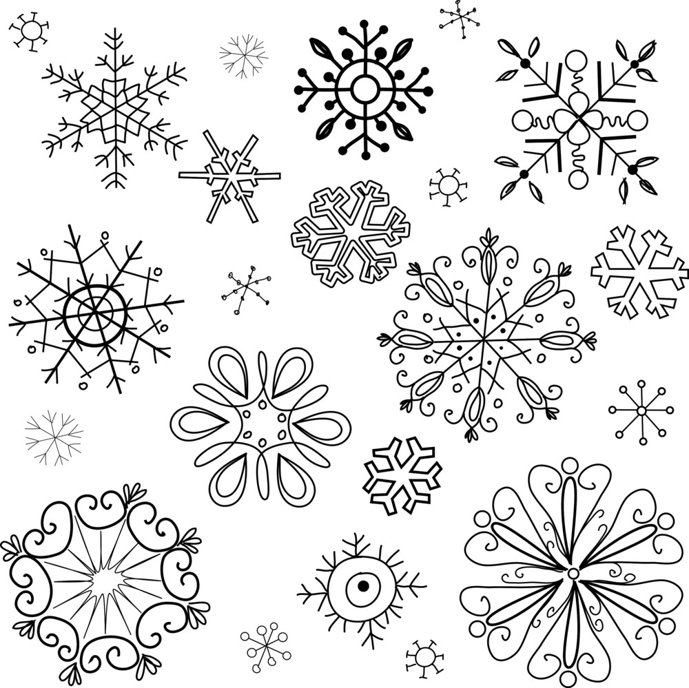 Christmas Background Made Of Snowflakes-