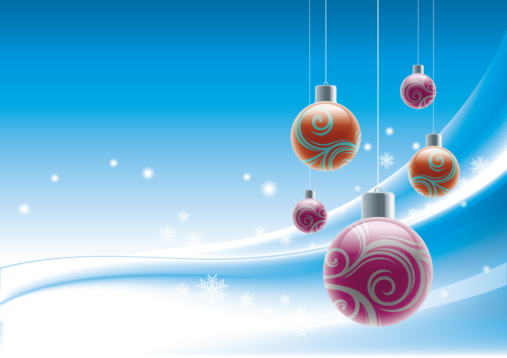 Christmas Sports Background.Christmas Background With Baubles Royalty Free Stock Image