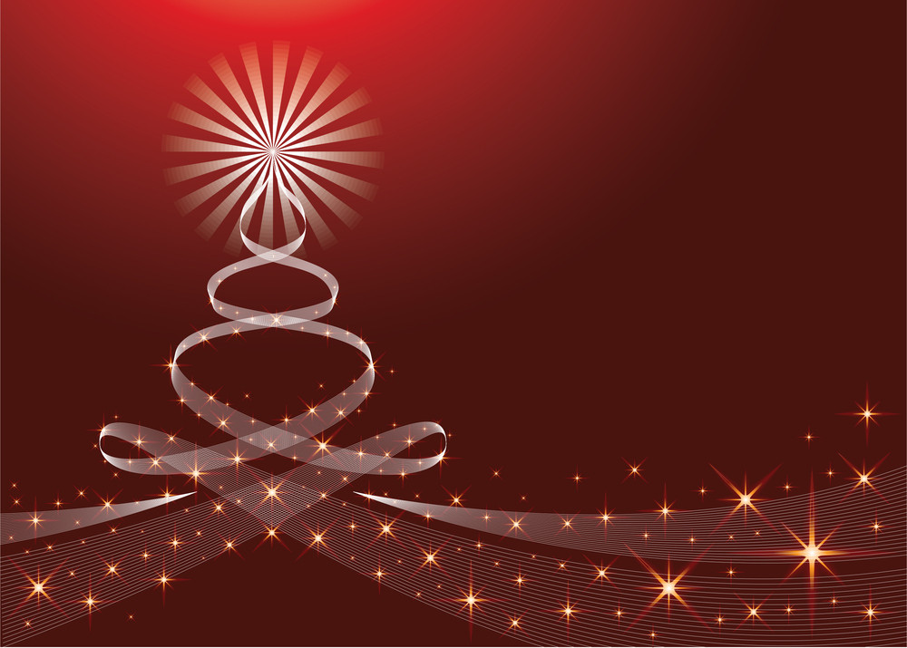 Christmas Background With Yule Tree