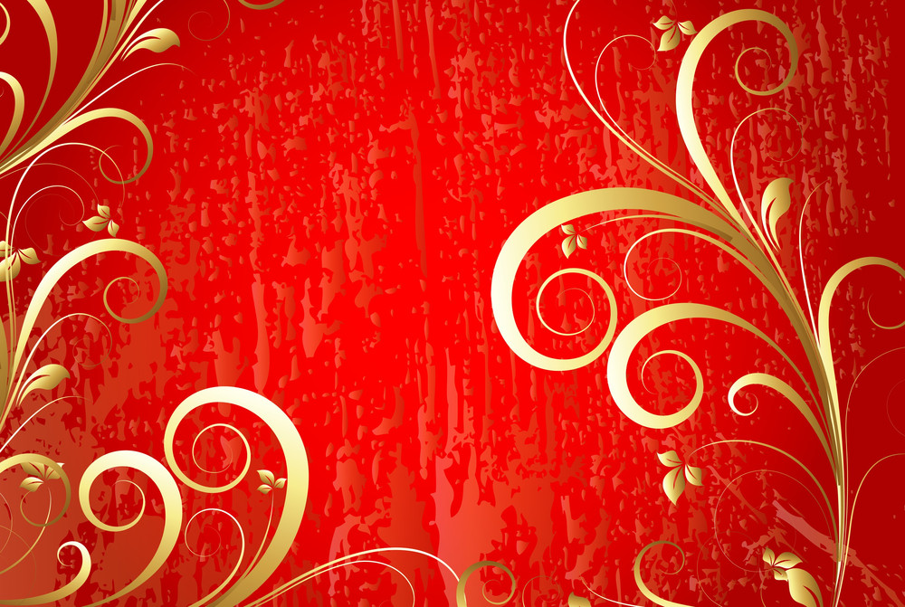 Christmas Banner Floral Background