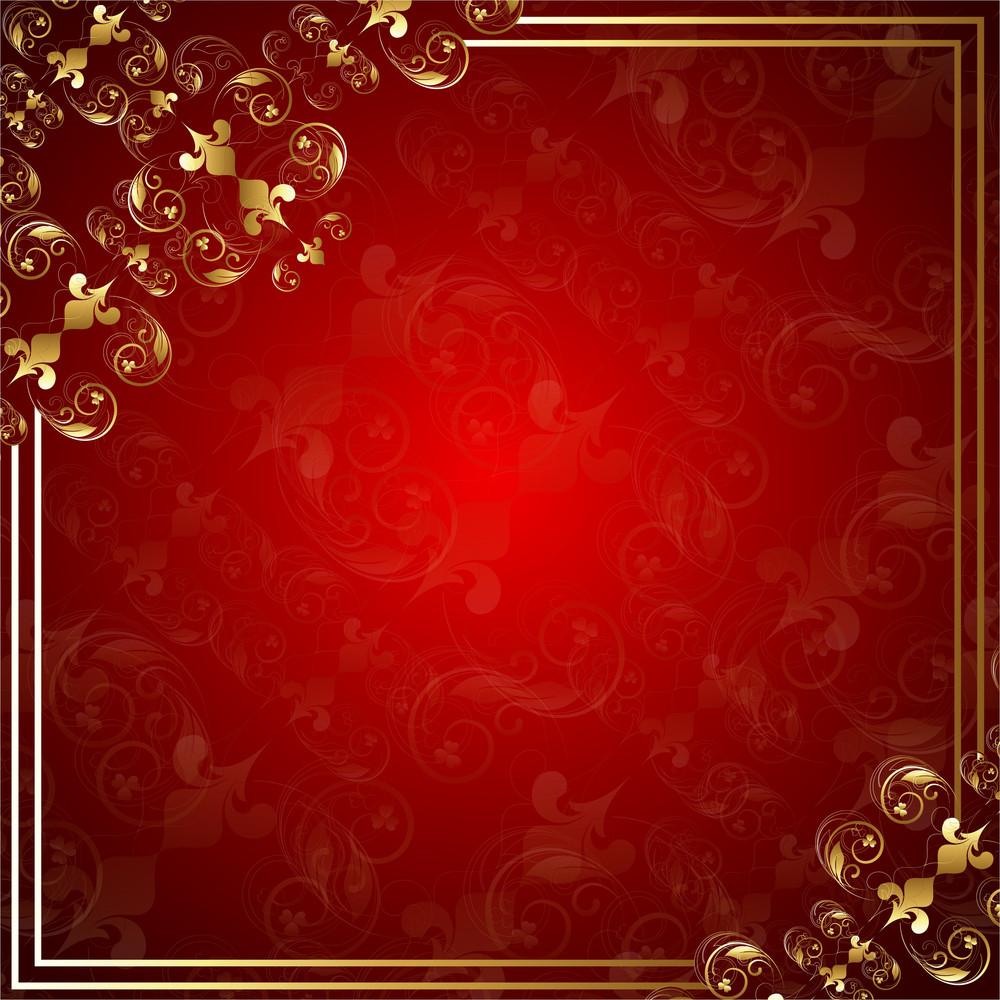 Christmas Banner Flourish Frame Vector