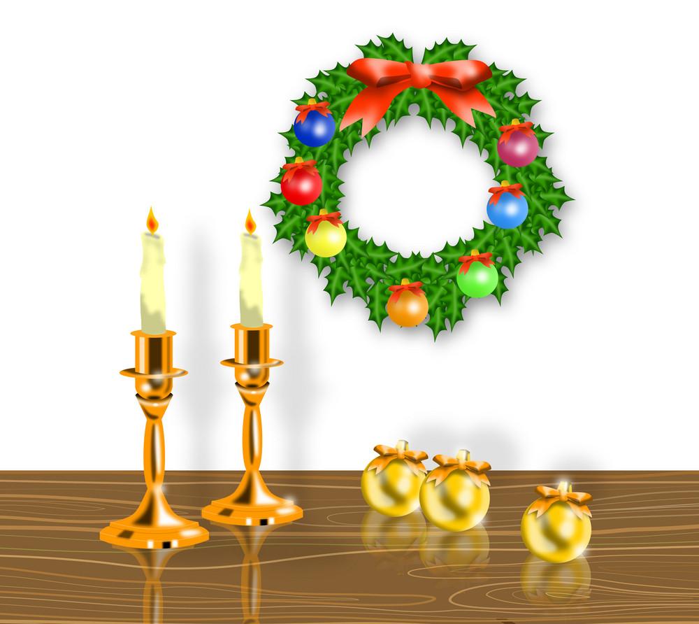 Christmas Candle Wreath Balls