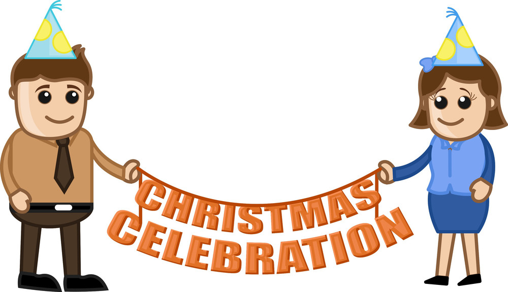 Christmas Celebration - Cartoon Business Characters
