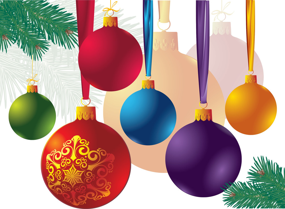 Christmas Decoration Elements. Vector.