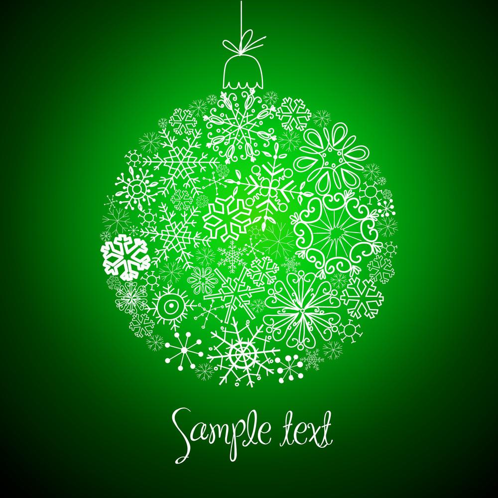 Christmas Decorative Ball Made Of Snowflakes-