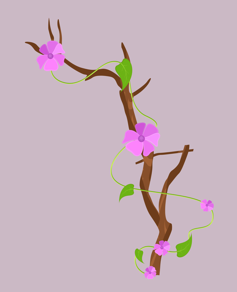 Christmas Decorative Flowers Branch