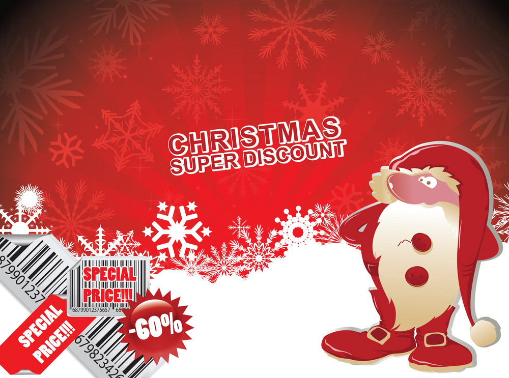 Christmas Discount Banner Royalty-Free Stock Image - Storyblocks