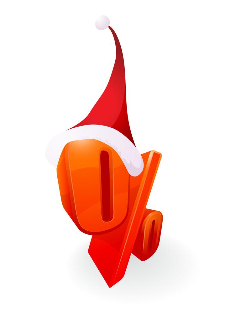 Christmas Discount. Vector.