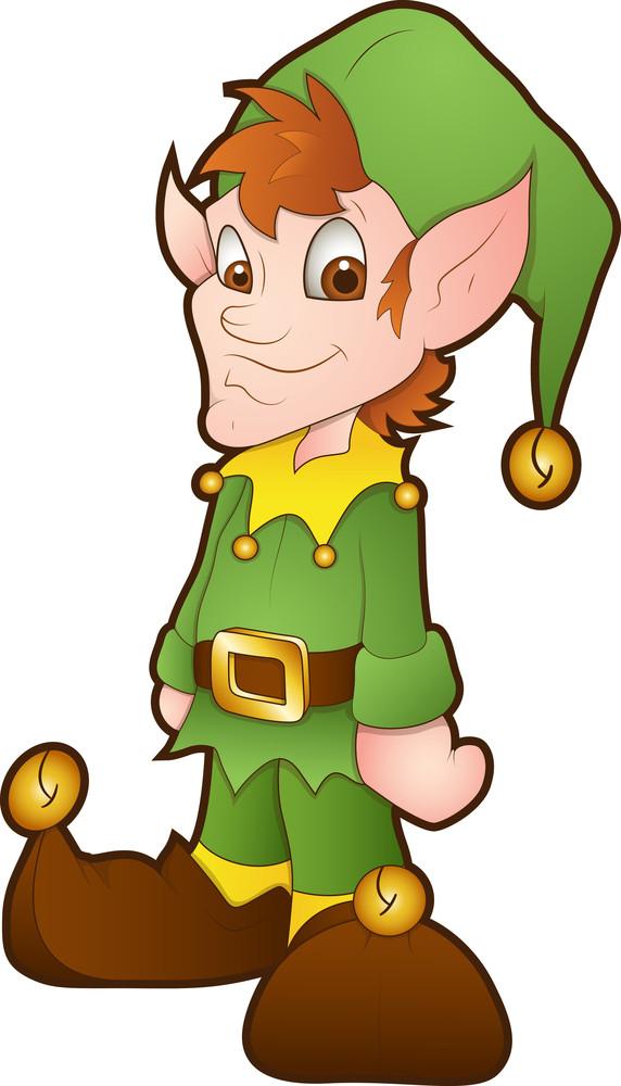 christmas elves cartoon character royalty free stock image