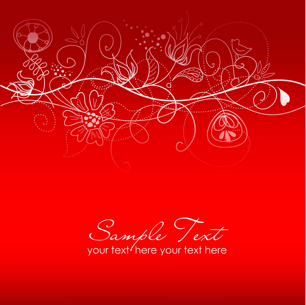 Christmas Floral Background-