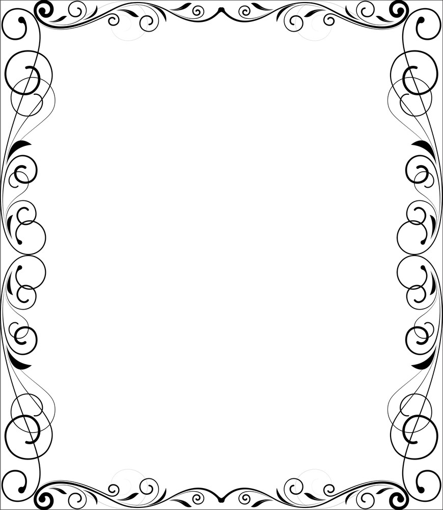 Christmas Flourish Frame
