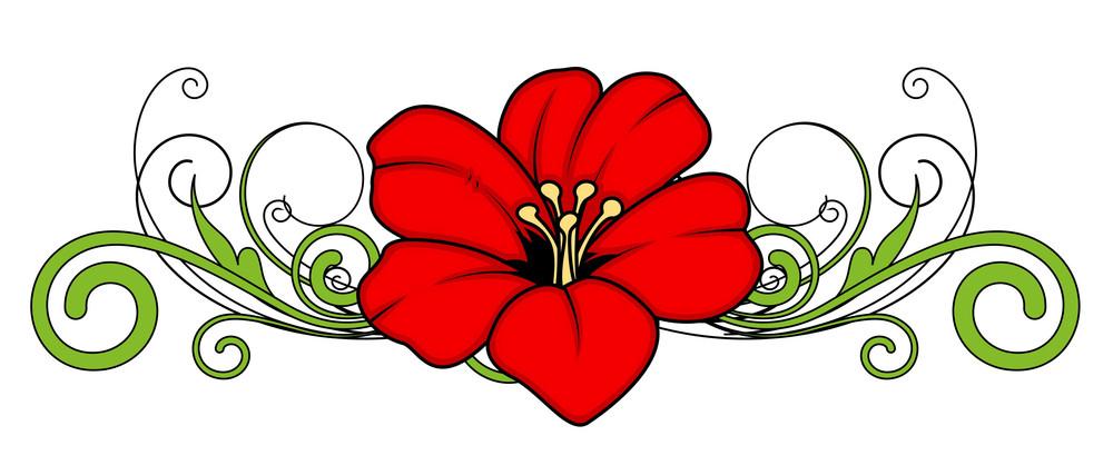 Christmas Flower Divider Vector