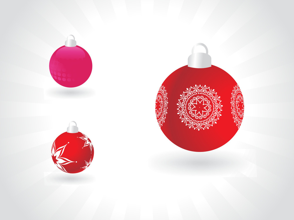 Christmas Hanging Ball Isolated On Abstract Background